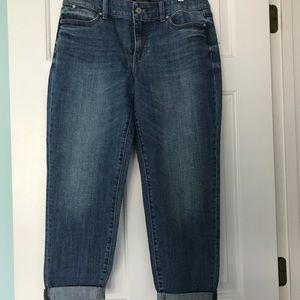 Talbots Boyfriend Cuffed Denim Jeans